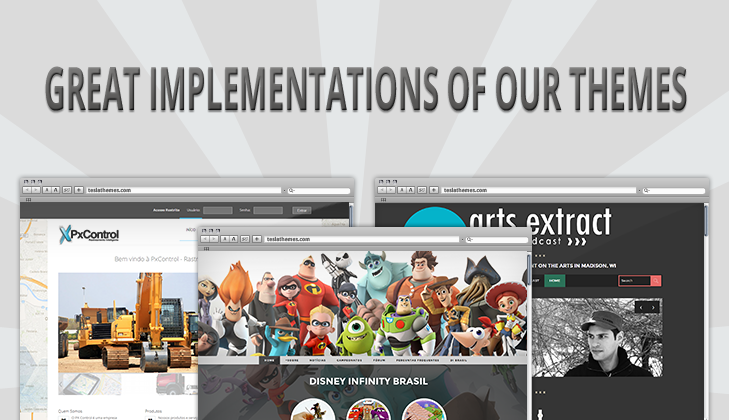 7 Beautiful Implementations of our WP Themes