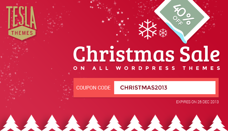 Christmas Special: 40% OFF on all WordPress Themes