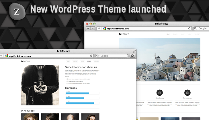 Zoomy – our new WordPress Theme for Photography lovers
