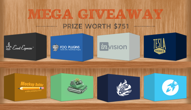 Giveaway: win plugins, tools and themes with a total worth of $751