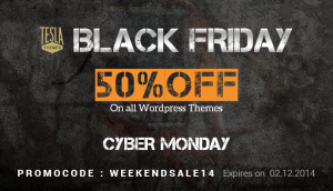 Black Friday & Cyber Monday deal: get 50% OFF on everything